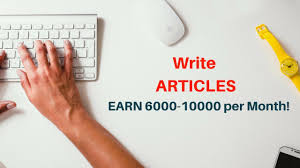 earn 6000 10000 for writing artcles work from home using