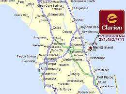 port canaveral map clarion hotel port canaveral kennedy space center area