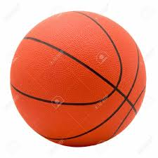 ball for game in basketball of orange colour isolated on white