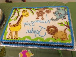 jungle theme baby shower cake jungle theme baby shower sheet cakes baby shower cake