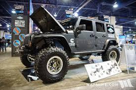 badass white jeep wrangler 2017 sema dana twisted rear steer jeep jk wrangler unlimited
