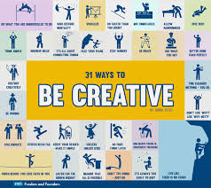 to be how to be creative 31 ways infographic