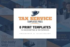 tax service templates pack flyer templates creative market