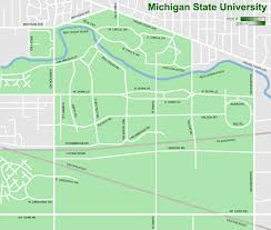 Michigan Campus Map by File Msu Campus Map Rev3 Png Wikimedia Commons