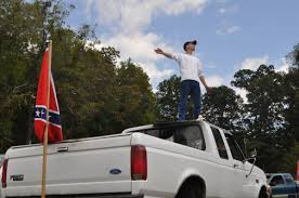 Confederate Flag Pickup Truck Caravan Sporting Confederate Flags Crosses County News