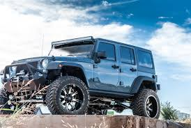 jeep wrangler blue insane off road mods on tough jeep wrangler unlimited u2014 carid com