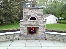 Patio Fireplace Kit by Stone Patio Fireplace Kits Hill Stone Patio With Outdoor Fireplace