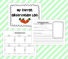 spring science carrot top experiment with free journal printables