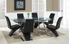 contemporary dinette w metal u0026 glass extendable dining table