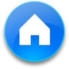home blue rounded blue home button vista icon free icon free download