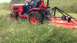 23 hp kubota with 4 ft land pride brush hog youtube