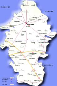 Punjab Map Punjab Police Map Of Muktsar District