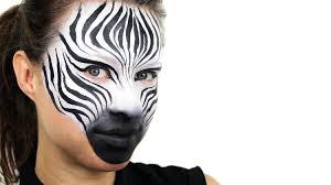 zebra face paint tutorial youtube