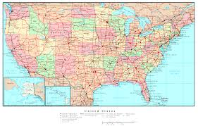 50 State Map United States Map Online Maps Of United States Country North The
