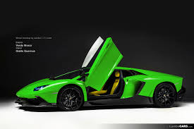 lamborghini green and black lot of colours for the lamborghini aventador lp720 4 50 anniversario