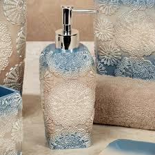 Blue Bathroom Accessories by Fallon Blue Ombre Medallion Bath Accessories