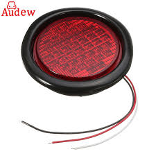 flush mount trailer lights 4 round red 40leds car 12v stop turn tail light warning l flush
