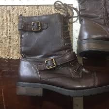 target womens boots zipper target womens sz 9 1 2 brown combat boots lace up zipper