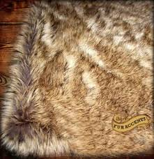 Fur Area Rug Light Brown Wolf Coyote Skin Faux Fur Area Rug Rectangle