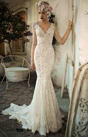 v neck mermaid wedding dress biwmagazine com
