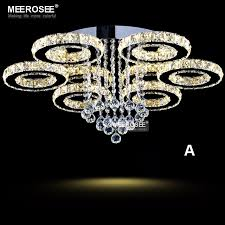 buy light fixtures online modern led crystal chandelier ring circle lustre ceiling light