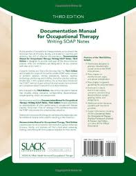 Soap Notes For Therapist Documentation Manual For Occupational Therapy Writing Soap Notes