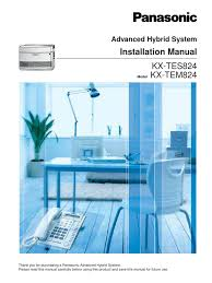panasonic kx tes824 installation manual electrical connector