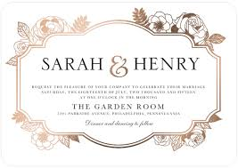 wording for wedding invitations wedding invitation wording rectangle white gold black floral