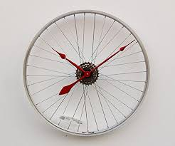 Unique Large Wall Clocks Amazon Com Recycled Bike Wheel Clock Unique Large Wall Clock