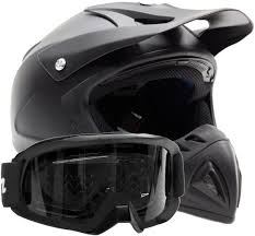 black motocross bike amazon com offroad helmet u0026 goggles gear combo dot