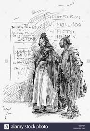 in the bars and streets cartoon drawing by phil may depicting an