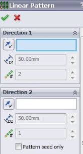 solidworks linear pattern solidworks features tools linear pattern property mananger