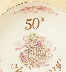 50th anniversary plates lefton 50th wedding anniversary china plate japan mint