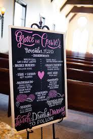 Chalkboard Wedding Program Design More U2014 The Art Of Jillian Kaye