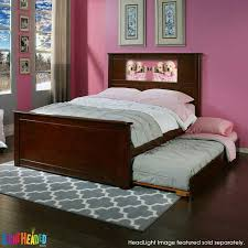 lightheaded beds riviera full bed with trundle cherry