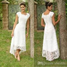 high wedding dresses 2011 discount vintage lace wedding dresses high low sleeves