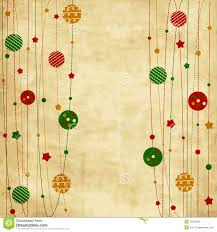 vintage christmas card with xmas balls and stars royalty free