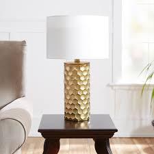 abbyson gold mercury glass table lamp set of 2 hayneedle
