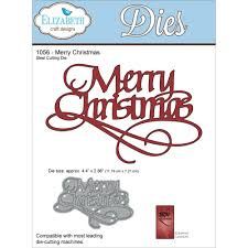elizabeth craft designs die by suzanne cannon merry christmas