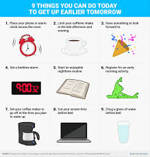 things you can do today to get up earlier tomorrow business insider