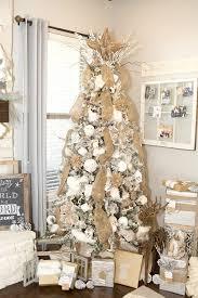 white tree decorations stock photo artificial white