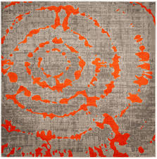 Grey And Orange Rug Rug Prl7735f Porcello Area Rugs By Safavieh