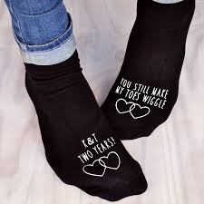 cotton anniversary gifts for him you make my toes wiggle anniversary socks by solesmith
