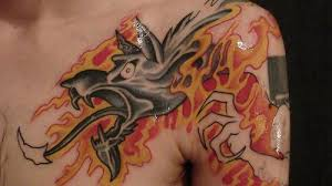 fire flame shoulder small back front tattoo image galleries fire