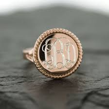 gold monogram ring monogram ring ideas collections