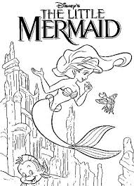 mermaid coloring pages 6 coloring kids