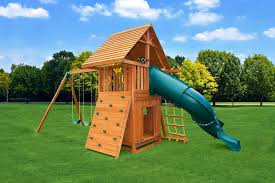 sky 4 backyard playground jungle gym swings and gliders