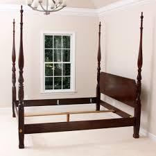 henredon bed frame king img fine furniture vintage four poster