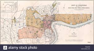 Map Of Shanghai Map Of Shanghai China Circa 1918 Stock Photo Royalty Free Image