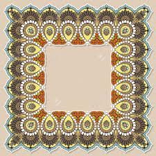 mehndi card ornate vector card template in indian mehndi style